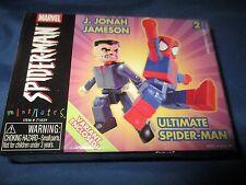 MARVEL UNIVERSE MINIMATES Variant Figure Set ~Ultimate Spiderman/J Jonah Jameson
