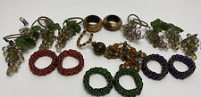 New listing Mixed Lot Of Resin Beaded Napkin Rings Set 8 Grapes, 7 Beaded, 2 Wood Total 17