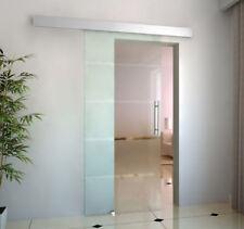 Glasschiebetür Schiebetür Tür Zimmertür Glas 4 Streifen satiniert 2050x775x8 mm