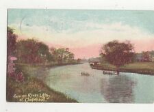 View On River Liffey at Chapelizod Dublin Ireland Vintage Postcard 332a