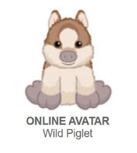 Webkinz Classic Wild Piglet *Code Only*