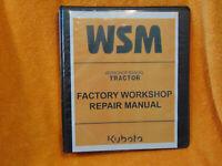 KUBOTA M8200 M9000 Tractor SERVICE Workshop repair manual Binder