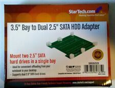 "StarTech 3.5"" Bay to Dual 2.5"" SATA HDD Adapter Bracket for SATA Hard Drives"