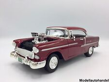 Chevrolet Bel Air ( Chevy ) Tuning 1955 metallic- rot - 1:18 MotorMax