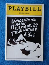 Unidentified Human Remains And... - Orpheum Theatre Playbill - September 1991