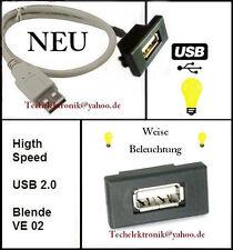 USB Einbaubuchse Beleuchtung 50cm passend für Benz Viano Vito C180 C200 E200 AMG