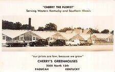 Real Photo Postcard Cherry's Florist Greenhouses in Paducah, Kentucky~110820