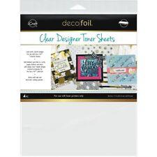 """Deco Foil Clear Toner Sheets 8.5""""X11"""" 4/Pkg -Printable"""