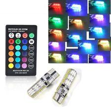 2x T10 6SMD 5050 RGB LED Auto Wedge Seitenlicht Leselampe + Fernbedienung