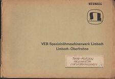 LIMBACH-OBERFROHNA, Katalog 1967, TEXTIMA 8514 VEB Spezial-Nähmaschinenwerk