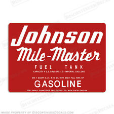 Johnson 1953-1955 4 Gallon Fuel Gas Tank Decals Mile Master Decal Kit - Set of 2