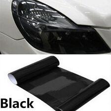 "Gloss Black Dark Tint Headlight Taillight Fog Vinyl Wrap Sheet Sticker 12"" x 24"""