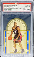 Dwyane Wade 2003-04 Upper Deck Rookie Future All Star Die Cut LOW POP PSA 9