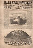 1867 Harper's Weekly February 2-Cotton Plantation Scene;Albany;Janesville Fires