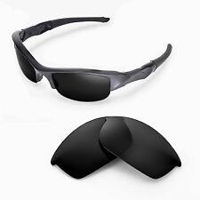 New Walleva Polarized Black Lenses For Oakley Flak Jacket