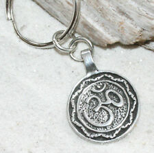 OM OHM AUM EMBROIDERED TAG KEYCHAIN  11 X 3.5 CM