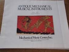 1979 ANTIQUE MECHANICAL MUSICAL INSTRUMENTS FALL No 6 Connecticut Mag