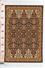 "Dollhouse -  Woven Rug #3 with fringe  6"" by 9 3/4 """