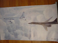 US Air Force Refueling Keith Ferris 1985 Poster France GE Aircraft Military Art
