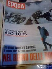 EPOCA 1089(1971)TUTTO SULLA MISSIONE APOLLO 15