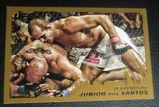 Junior Dos Santos UFC 2011 Topps Moment of Truth Gold Card #156 146 131 117 108