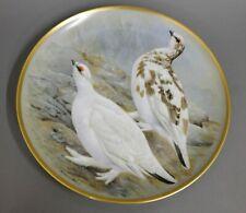 Wandteller Franklin Porcelain 1979 Limoges Gamebirds of the world Ptarmigan #7