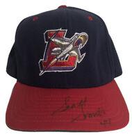 VTG New Era Lancaster JetHawks Autographed MILB Snapback Hat Baseball Retro GUC