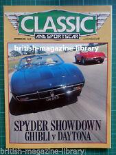 C&SC 9/1986 Daytona v Ghibli Sunbeam Tiger HMW 1 Datsun 240Z 196SP