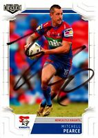✺Signed✺ 2020 NEWCATLE KNIGHTS NRL Card MITCHELL PEARCE
