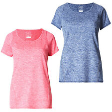 Marks & Spencer Womens Sports Top New M&S Short Sleeve Marl Gym Fitness T Shirt