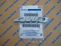 Ford Escape Rear 4WD Emblem Chrome Self Sticking Genuine OEM New Factory Ford