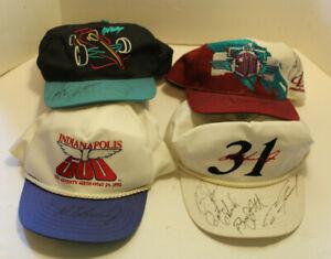 Vintage Autographed Indy Racing Memorabilia/Hats