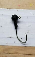 100ct. 1/8oz Black jig head with #1 bronze Eagle Claw Lil' Nasty hook