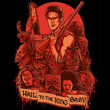 ASH VS EVIL DEAD Army Of Darkness Hail To The King Sam Raimi TEEVILLAIN T-SHIRT