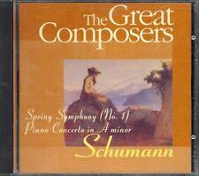 SCHUMANN - SYMPHONY NO 1: SPRING -JERZY SEMKOW + PIANO CONCERTO: RUDOLF FIRKUSNY