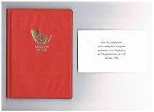 Ministro libro Ungheria/Magyar posta/hongrie@geschenk ITU Congresso 1982 Nairobi