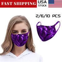 2/6/10Pcs Unisex Cotton Masks Fashion Face Mask Breathable Resuable Washable USA