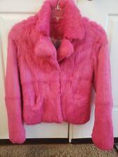 Juicy Couture Original Rare Hot Pink Rabbit Fur Jacket Sz M