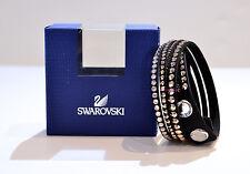 Swarovski Crystal Slake Deluxe Black Bracelet 5089699 Authentic Brand New In Box
