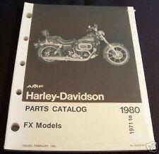 Original Harley Shovelhead FX Parts Catalog 1971 - 80 NOS part# 99455-80 (93)