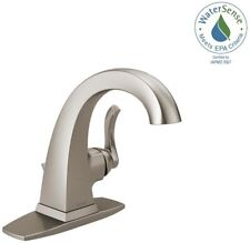 "Delta Everly Single-Handle Bathroom Faucet 1-3-Hole 4"" Install Brushed Nickel"