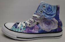 Converse All Star Size 7 Floral Hi Top Canvas Sneakers New Womnes Shoes