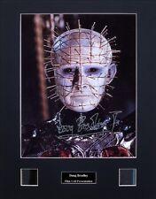 Doug Bradley Pinhead Hellraiser Ver1 Signed Photo Film Cell Presentation