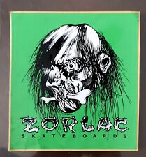 Zorlac Skateboards Shrunken Head Sticker dogtown Santa Cruz Phillips pushead