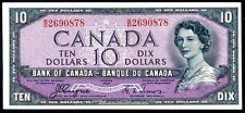 "Canada. Ten Dollars, ""Devil's Face"", B/D 2690878, series 1954, GVF or better."
