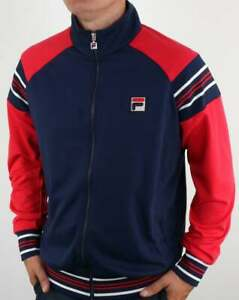 Fila Advantage Track Top in Navy & Red - retro vintage style tracksuit jacket