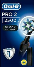 Oral-B Pro 2 2500 CrossAction Electric Toothbrush Rechargeable Braun Black