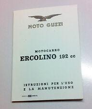 Libretto uso e manutenzione guzzi Ercolino 192