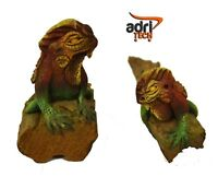 Animali Legno Arredamento coppia iguana lucertola Regalo dipinto a mano