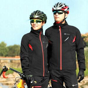 RockBros Cycling Outdoor Winter Thermal Fleece Windproof Coat Warm Jacket Jersey